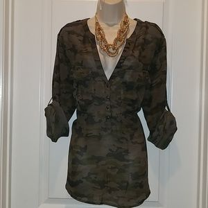 Gap sheer blouse